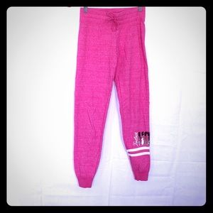Justice pink hoops sweatpants girls size 12